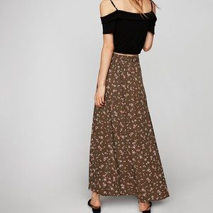 Express wrap floral skirt
